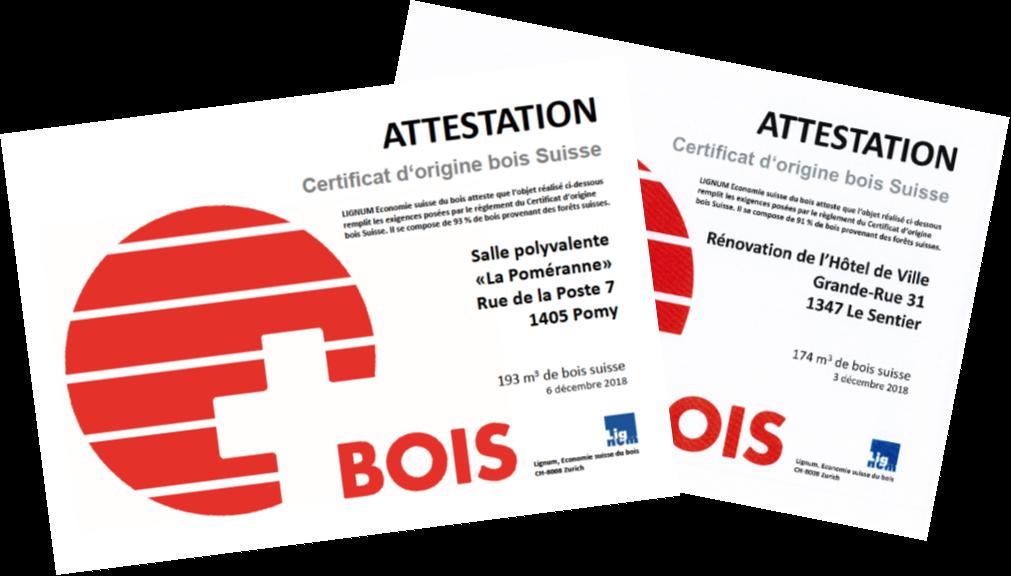 Deux nouvelles certifications